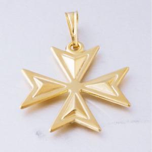 MALTESE CROSS St John Jewelry 18ct Gold 3D Pendant Hallmarked 750 Made n Malta