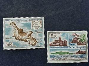 2 Briefmarken Französische Antarktis (TAAF) Ile des Pinguins
