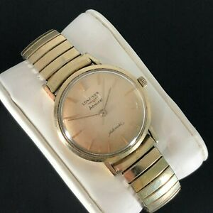 Beautiful Vintage Longines Admiral 1200 Mens Watch 10K GF Case & Bracelet 1962