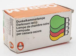 Osram Dunkelkammerlampe darkroom lamp 220-230 Volt 4513 E27 Dunkelgrün neu
