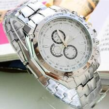 Luxury Men's Stainless Steel Wrist Watch Multi Color Ships From USA Address Fast