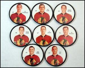 1960-61 Salada Shirriff Hockey Coins, Chicago Blackhawks Partial Team Set/8
