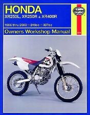 HAYNES SERVICE REPAIR MANUAL HONDA XR250L 1991-96, XR250R 1986-04 & XR400R 96-04