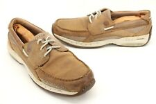 Dunham Men's Captain Boat Shoe In Tan Leather Casual Loafers Size 11.5 B