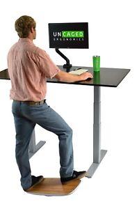 Standing Desk Balance Board Aluminum Bamboo office wobble platform accessories