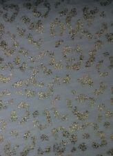 MERONA Ivory w/ Gold Foil Metallic Leopard Print V-neck Slub Knit S/Sleeve Top S
