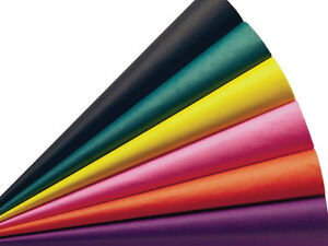 "Bulk Tissue Paper 15"" X 20"" - 50 or 100 Sheets Packs Pom Gift Favors 48+ Color"