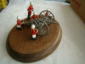 British Lead Soldiers with Cannon as shown