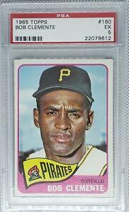 1965 Topps #160 Bob Roberto Clemente Pittsburgh Pirates HOF PSA 5 EX