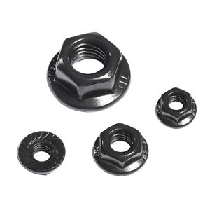 Serrated Flange Lock Nuts - Black A2 304 Stainless Steel M3- M12 ALL SIZE