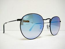 new authentic RAY BAN Sunglass RB3447 002/4O Black / Mirrored Gradient Blue 50mm