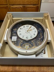 Seiko Wall Clock Melodies In Motion QXM139SAH 6 tunes preowned never used in box