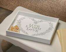 LIVE LAUGH LOVE White Wood Decorative Serving Tray