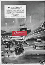 VICKERS VISCOUNTS IN SERVICE WITH BEA BRITISH EUROPEAN AIRWAYS 1953 AD