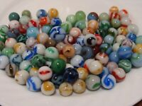 100 Marbles Vintage WV Swirls Ravenswood Alley Agate Jackson CAC Red Yellow Blue