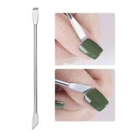 Cuticle Pusher Trimmer Cutter Remover Pedicure Manicure Nail Art Tool Dual Sided