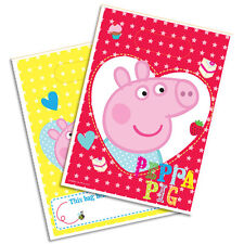 PEPPA PIG BIRTHDAY PARTY LOOT LOLLY BAGS PK8 NEW!