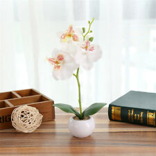 Artificial Butterfly Orchid Flower Fake Bonsai Flower With Pot Wedding Home Deco