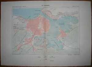 1891 Reclus map HAVANA, CUBA (#2)