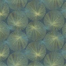 Arc com Nova Ocean Blue Modern Contemporary Fireworks Bursts Upholstery Fabric