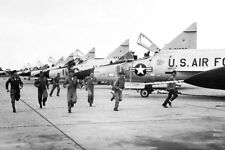 CONVAIR F-102 DELTA DAGGER FLIGHT LINE 8x12 SILVER HALIDE PHOTO PRINT