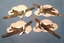 Spitfire Aircraft Flying Plane Show Fathers Day Birthday Card Toppers Die Cuts