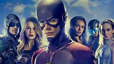 DC tv superheros flash supergirl arrow Silk Poster Wallpaper 24 X 14 inch