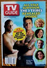 """TV Guide 1/17/04 """"Survivor"""" Mogo Mogo Tribe, Ryan Seacrest, Jennifer Aniston"""