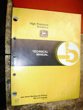 UP TP 1984 JOHN DEERE HIGH PRESSURE WASHERS FACTORY TECHNICAL SERVICE MANUAL