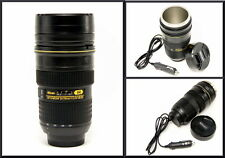 Nican Car Heated Camera Lens Travel Coffee Mug Stainless Steel Flask Thermos