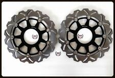 Front Brake Disc Rotors For Honda CBR 600 RR 2003-2013 Wave Rotors black