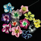 50pcs Mixed 20mm Polymer Fimo Clay 5-leaves Flower Spacer Beads