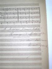 PARTITION AUTOGRAPHE NATALIE GUINARD DEDICACE A EDOUARD BATISTE 14 JUILLET 1875
