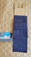 Schlaufenschal, Fertig-Gardine, ca 140*235 cm, Jeans ähnlicher Stoff