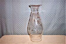 GRAY CUT BEADED TOP GLASS CHIMNEY MINT