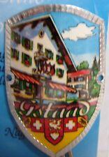 Switzerland Gstaad new badge mount stocknagel hiking medallion G9748