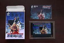 Famicom FC Akumajou Densetsu Castlevania Dracula III boxed Japan game US Seller