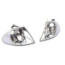 Pair Crystal Clear Lens Turn Signal Indicator Corner Lights for BMW 3 Series E46