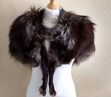 Vintage SILVER FOX Real Fur Shoulder Stole / Shrug / Wrap / Shawl / Cape 1950s