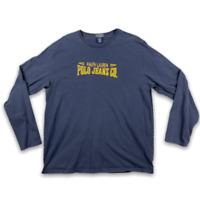 Ralph Lauren Since 1967 Mens Crew Neck Long Sleeve Blue T Shirt Size Large