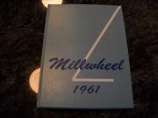 "1961 Millsboro High School Yearbook ""Millwheel"" Millsboro,Delaware"