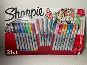 NEW 21 Count  SHARPIE Vivid + Neon Fine & Ultra-Fine Point Permanent Markers NEW