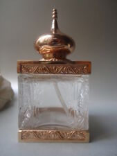 Rare AMOUAGE EMPTY Gold Plated Mosque Bottle 10cm tall Minor Marks But Stunning
