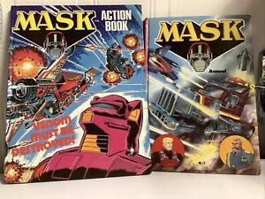 Mask Action Book 1988 Annual & Action Book Hard Back Comic Book Bundle