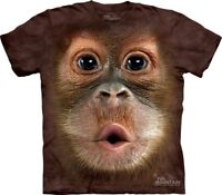 Big Face Baby Orangutan Kids T-Shirt from The Mountain. Monkey Childs Sizes NEW