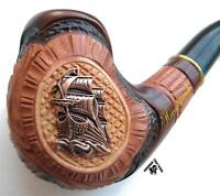 "HAND CARVED Tobacco Smoking Pipe/Pipes METALL ""SHIP VESSEL"" #2 Lowest Price!"