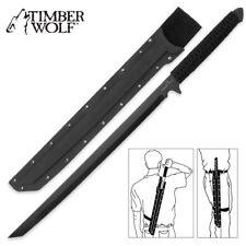 Timber Wolf-United Cutlery Original Black Ronin Katana ninja sword hard sheath