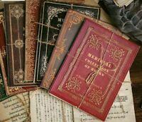 10Designs Antique Medieval Record Letter Scrapbooking Card Making Journaling DIY