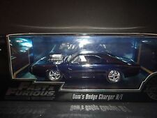 Jada Dodge Charger RT 1970 Black Chrome with Display Case 1/24 Limited Edition