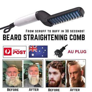 Quick Beard Straightener Hair Styler Multifunctional Comb Curler Show Cap Men